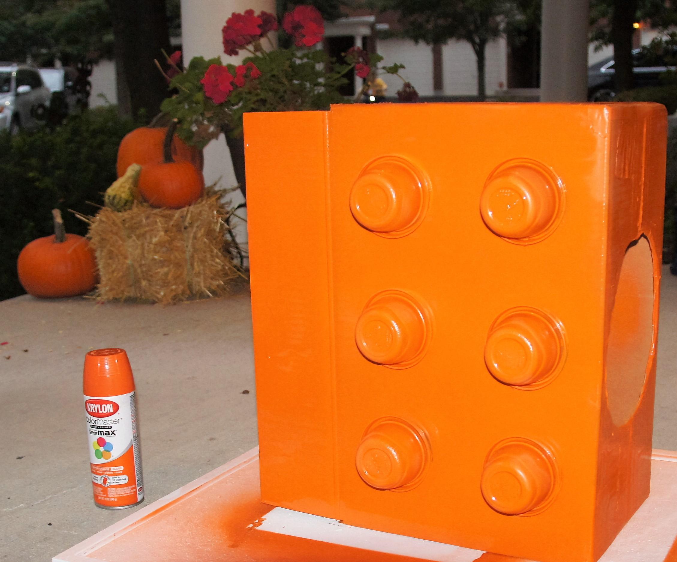 Lego Project: Orange Box Spray Painted