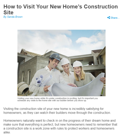 NHS How to Visit Your New Construction Home